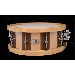 "5 1/2"" x 14"" Maple and Black Walnut Stave Snare Drum"